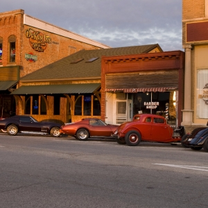 Vintage cars in downtown Kirksville