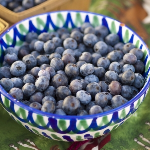 Fresh blueberries from a Kirksville farm