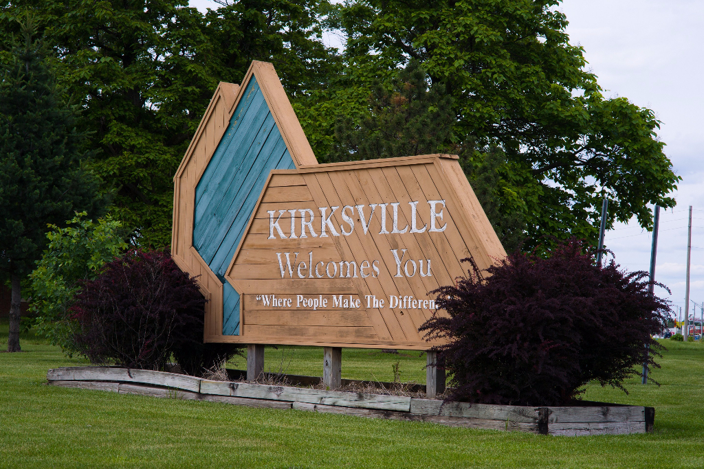 Welcome to Kirksville Sign