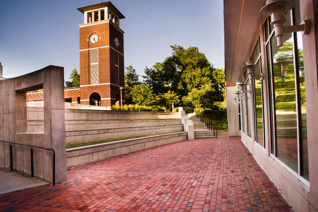 Magruder Hall Brick Plaza