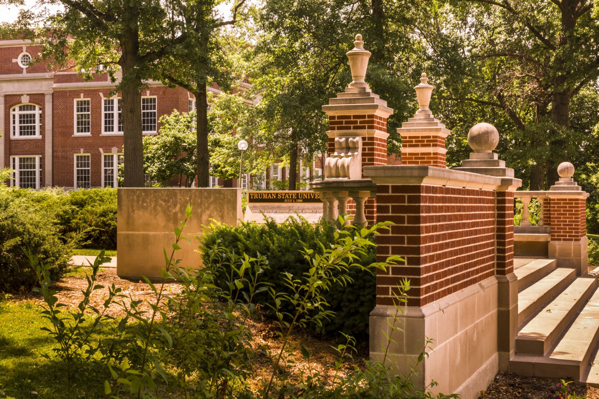 Campus Gates on north edge of the Quad