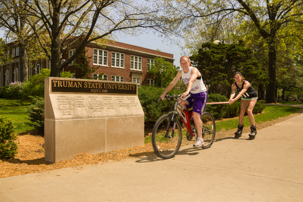 A bike and roller blades make it easy to get around campus