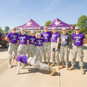 Truman ROTC tent at the Homecoming Tailgate