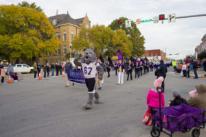 Spike in Homecoming Parade